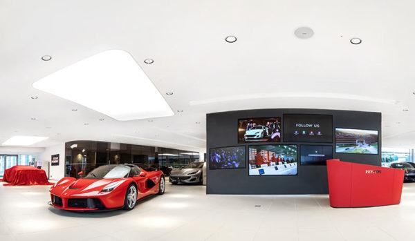 Ferrari Showroom erweitert